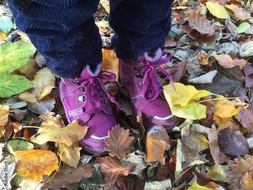 canvas print picture Wanderun im Herbst