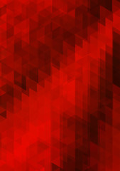 red abstract bacground from triangles