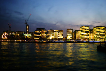 City of London in the evening