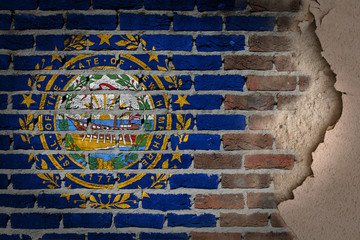 Dark brick wall with plaster - New Hampshire