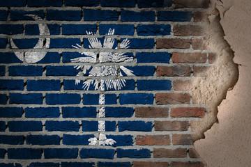 Dark brick wall with plaster - South Carolina