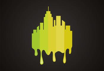 City painting logo vector