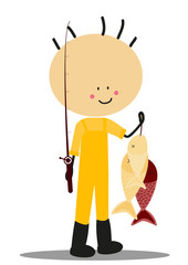 Doodle fisherman - Full Color
