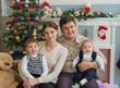 Christmas family scene.