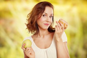 Entscheidung zur gesunden Ernährung