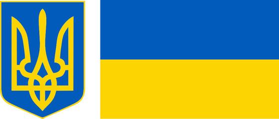 Godło i flaga Ukrainy