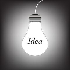 The bulb glows white _ Idea
