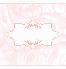 Ornamental wedding or baby card