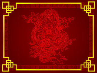illustration Chinese dragon