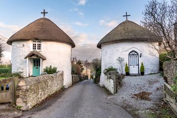 Roundhouses at Veryan in Cornwall