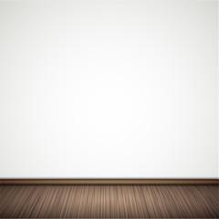 Vector wall with wooden floor.
