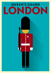 Queen's Guard Vector Illustration