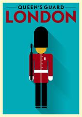 Queen's Guard Vector Illustration