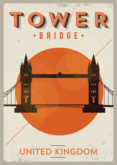 Tower Bridge Poster Illustration