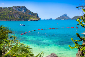 A Beach of Angthong Marine National Park overlooking the line of