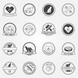 Dog ans cats black logos and badges