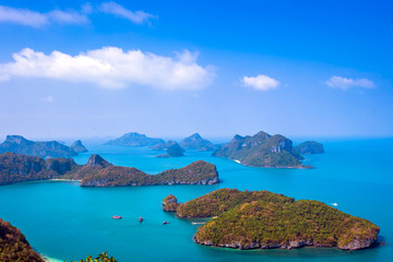 View from mountain on  Angthong Marine National Park