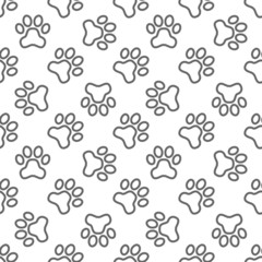 Pet paw pattern - vector seamless texture