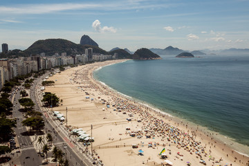 High level view on Copacabana Beach, Rio de Janeiro