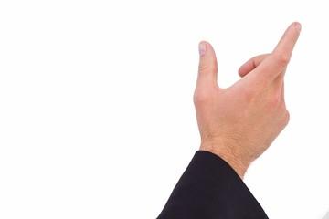 Businessmans hand presenting