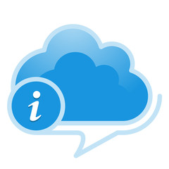 Cloud, computing, information service illustration.