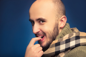 Portrait of the mysterious Man in the scarf