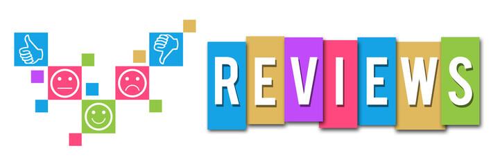 Reviews Colorful Elements Banner