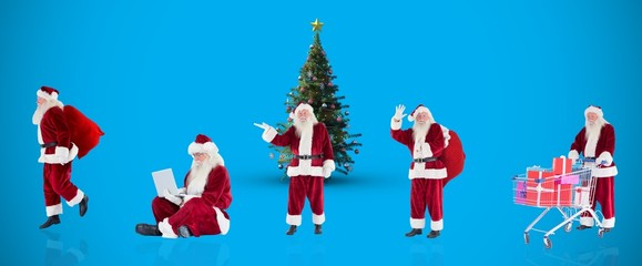 Composite image of different santas