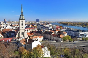 View of Bratislava with Cathedral of St. Martin