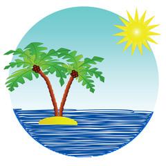 Tropical sunny island