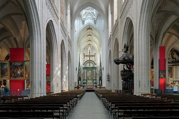 Interior of the Cathedral of Our Lady in Antwerp, Belgium