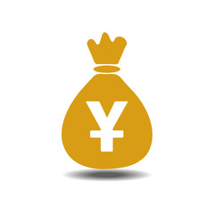 money bag yen icon