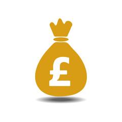 money bag pound icon