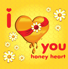 медовое сердце