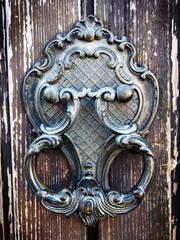 Antique wrought iron door knocker