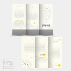 creative tri-fold template design