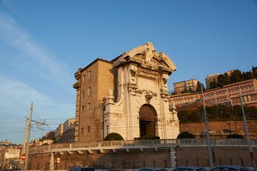 Beautiful Italian port embankment , Ancona, Marche