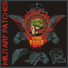 Special forces patch set - stock vector.