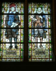 Stained glass of the Rijksmuseum in Amsterdam
