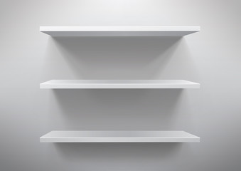 shelf on the white background