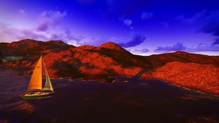 Yachting along  shore