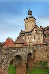 Bridge to old castle Czocha in Poland