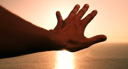 Hand Palm Sunshine Passing Through Freedom Devotion Religious