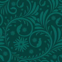 Elegant stylish abstract floral seamless pattern