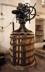 Old press to make wine