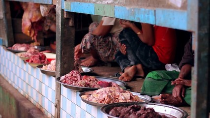butcher shop in India, the total lack of sanitation