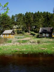 village on the riverside