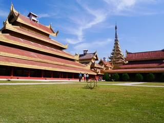 Mandalay Palace on a sunny day