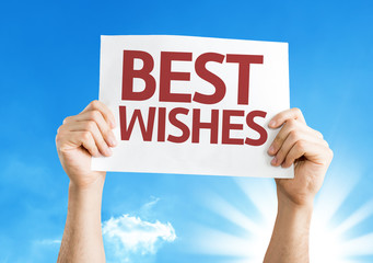 Best Wishes card with a beautiful day
