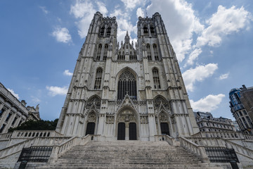 St. Michael and St. Gudula in Brussels, Belgium.